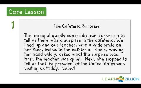 narrative paragraph example for kids