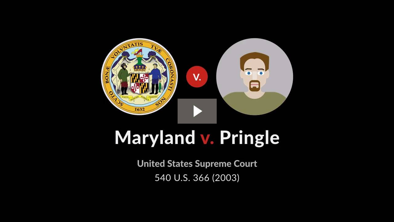 Maryland v. Pringle