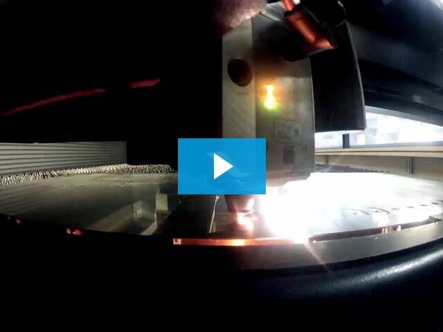 Watch Marlin Steel's laser cutter in action!