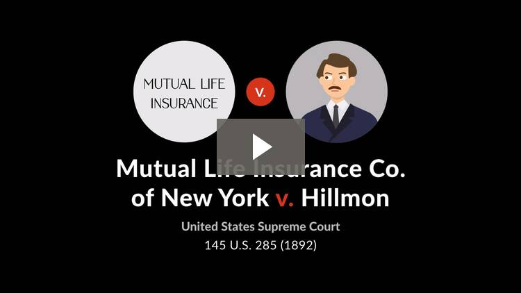 Mutual Life Insurance Co. of New York v. Hillmon