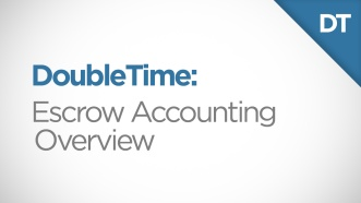 DoubleTime Escrow Accounting Overview Video Thumbnail