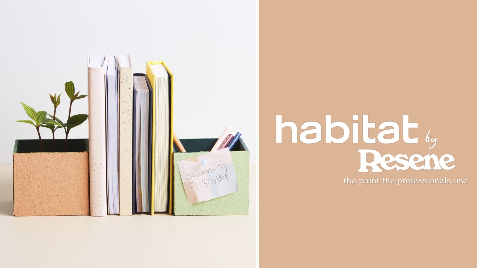 Habitat TV Video: Organise your desk with these DIY cork bookends