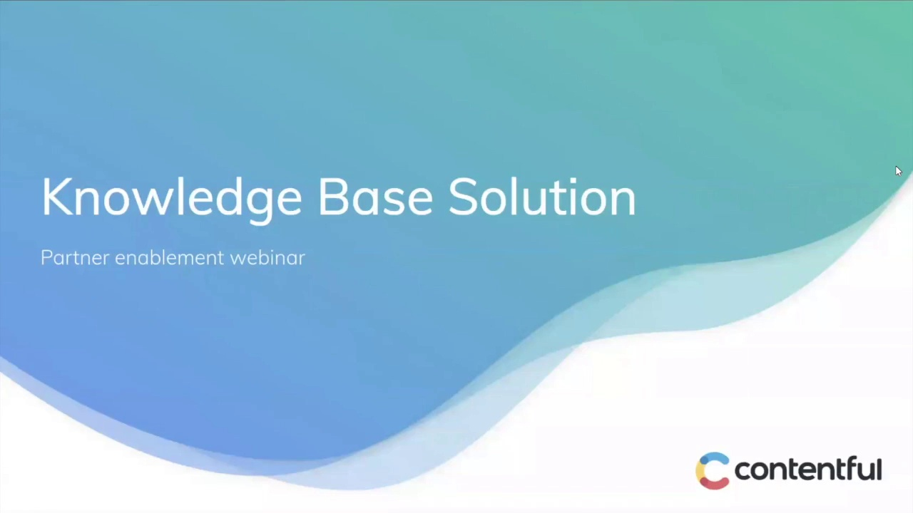 [2019-10-29] Knowledge base solution enablement