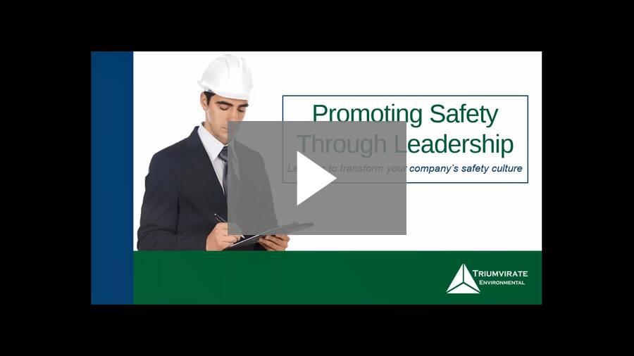 Webinar: Promoting Safety Through Leadership