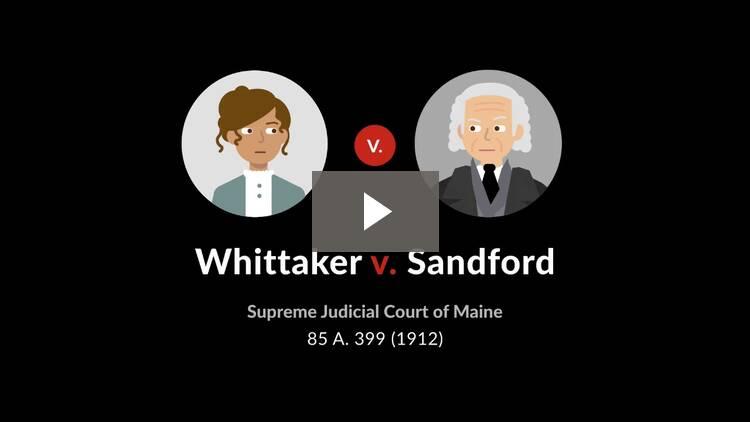 Whittaker v. Sandford