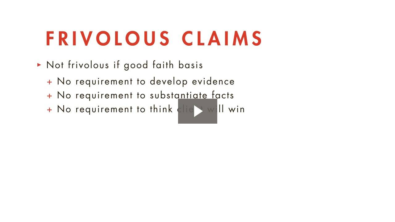 Meritorious Claims