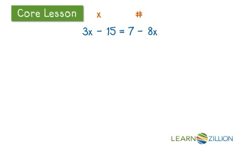 how to solve linear equations with unknowns on both sides