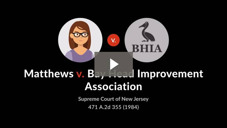 Matthews v. Bay Head Improvement Association