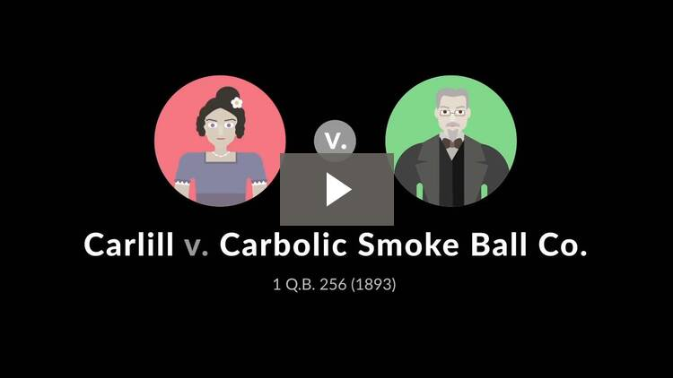 Carlill v. Carbolic Smoke Ball Co.