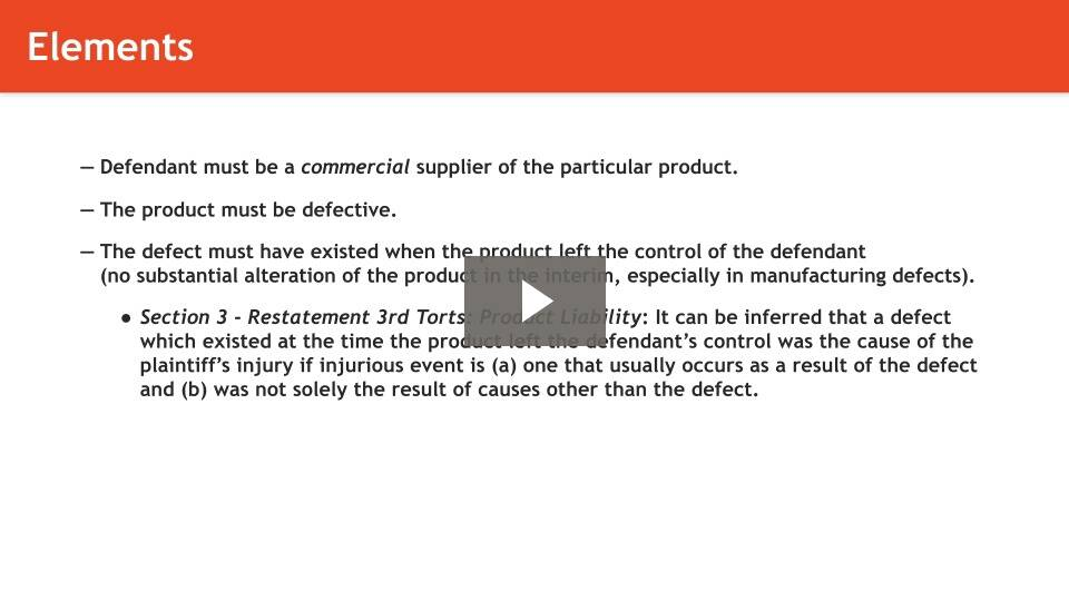 Strict Liability in Products Liability