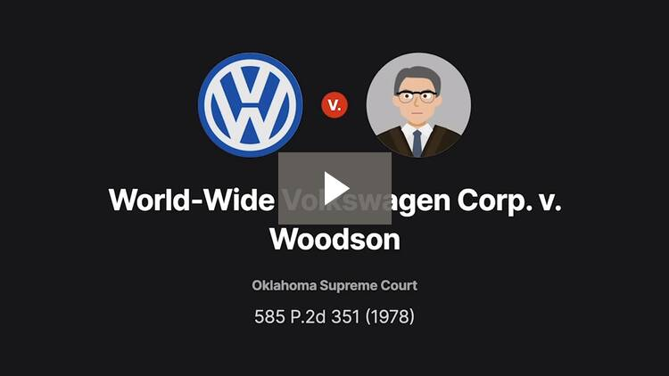 World-Wide Volkswagen Corp. v. Woodson