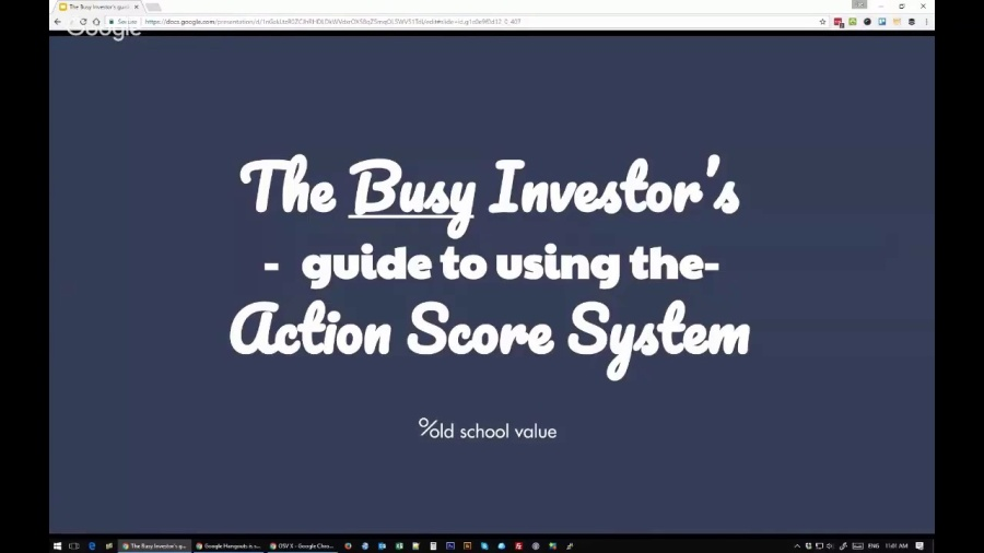 OSV Insider Training: Busy Investor's Guide to the Action Score System