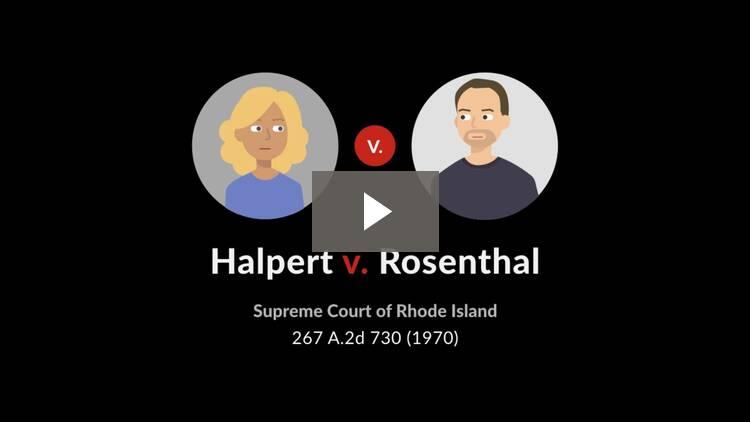 Halpert v. Rosenthal