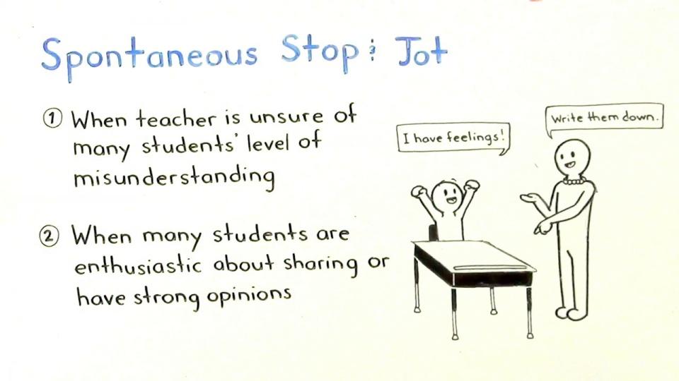 Using a Stop & Jot
