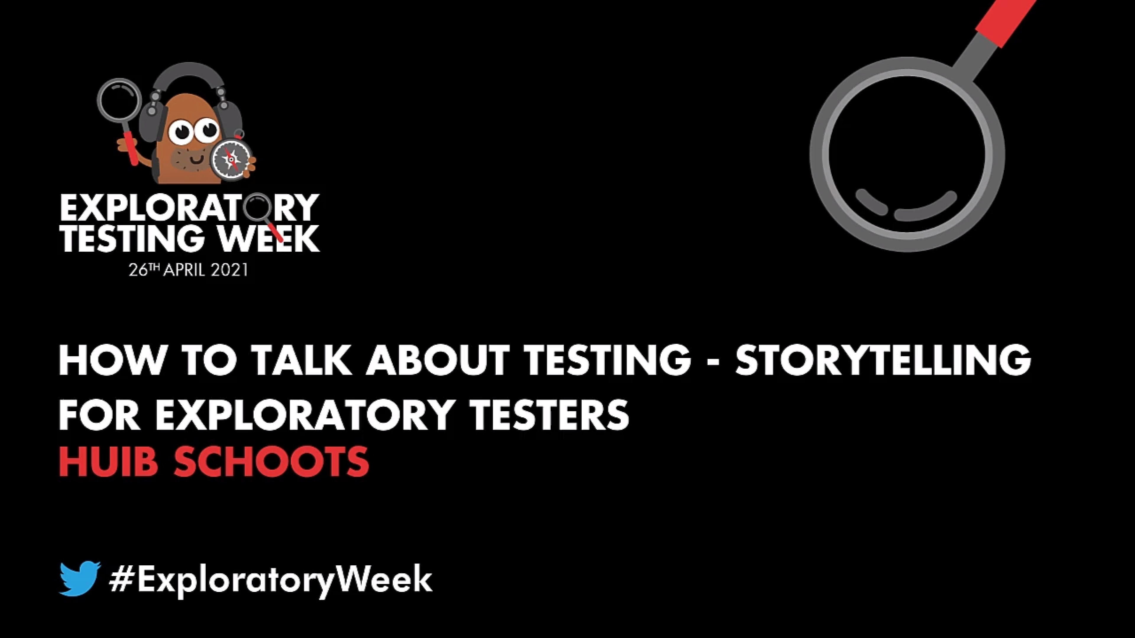 How to Talk About Testing - Storytelling for Exploratory Testers with Huib Schoots