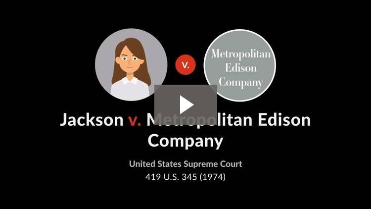 Jackson v. Metropolitan Edison Co.