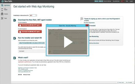 .NET Monitoring Installation video
