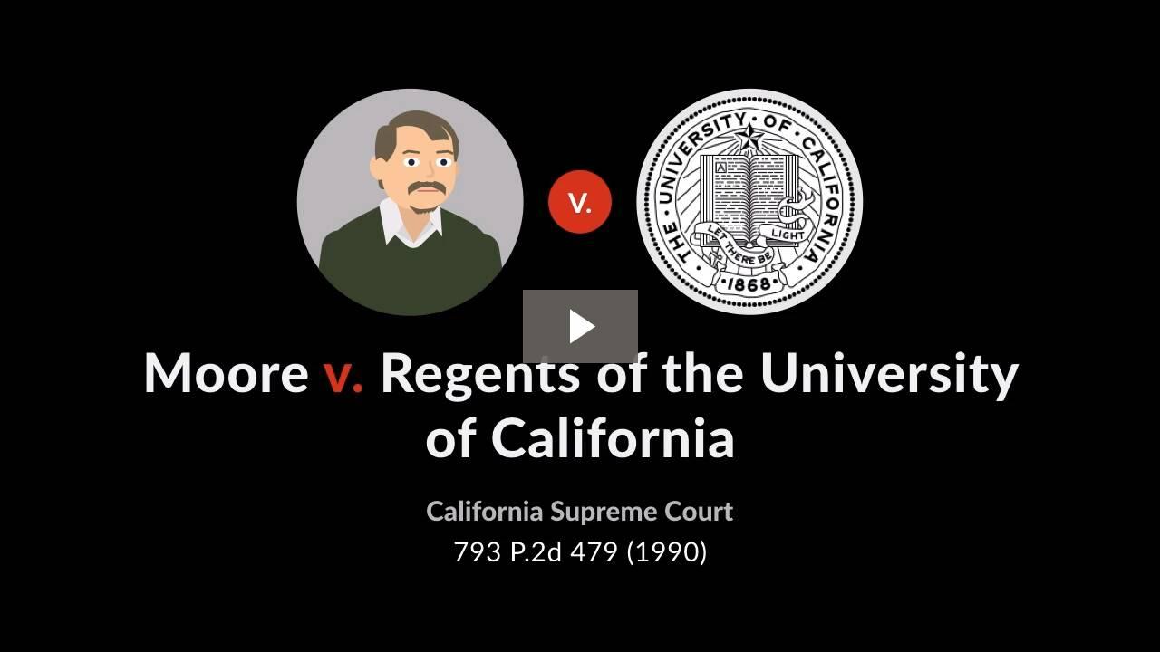 Moore v. Regents of the University of California
