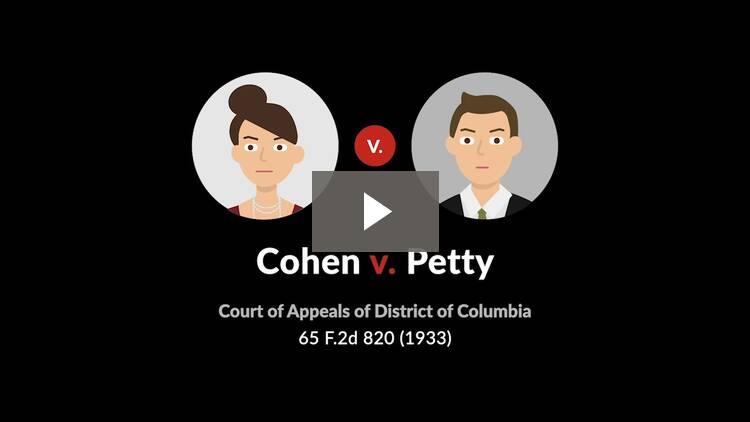 Cohen v. Petty