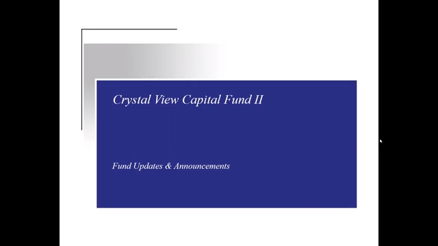 Investment Video - Crystal View Capital Fund II