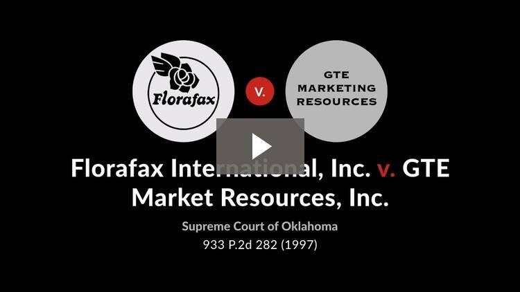 Florafax International, Inc. v. GTE Market Resources, Inc.