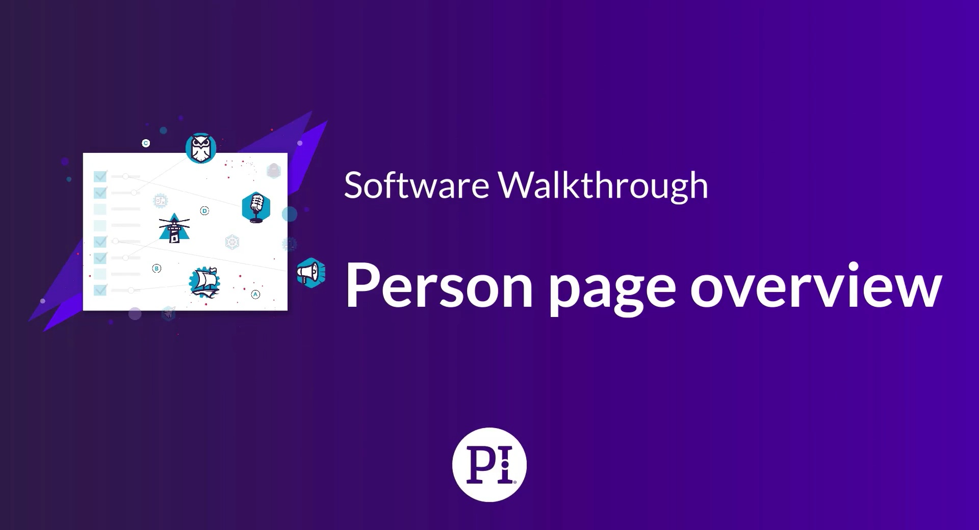 Person page overview