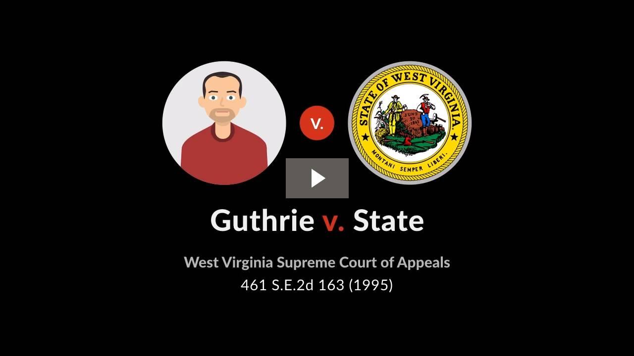 State v. Guthrie