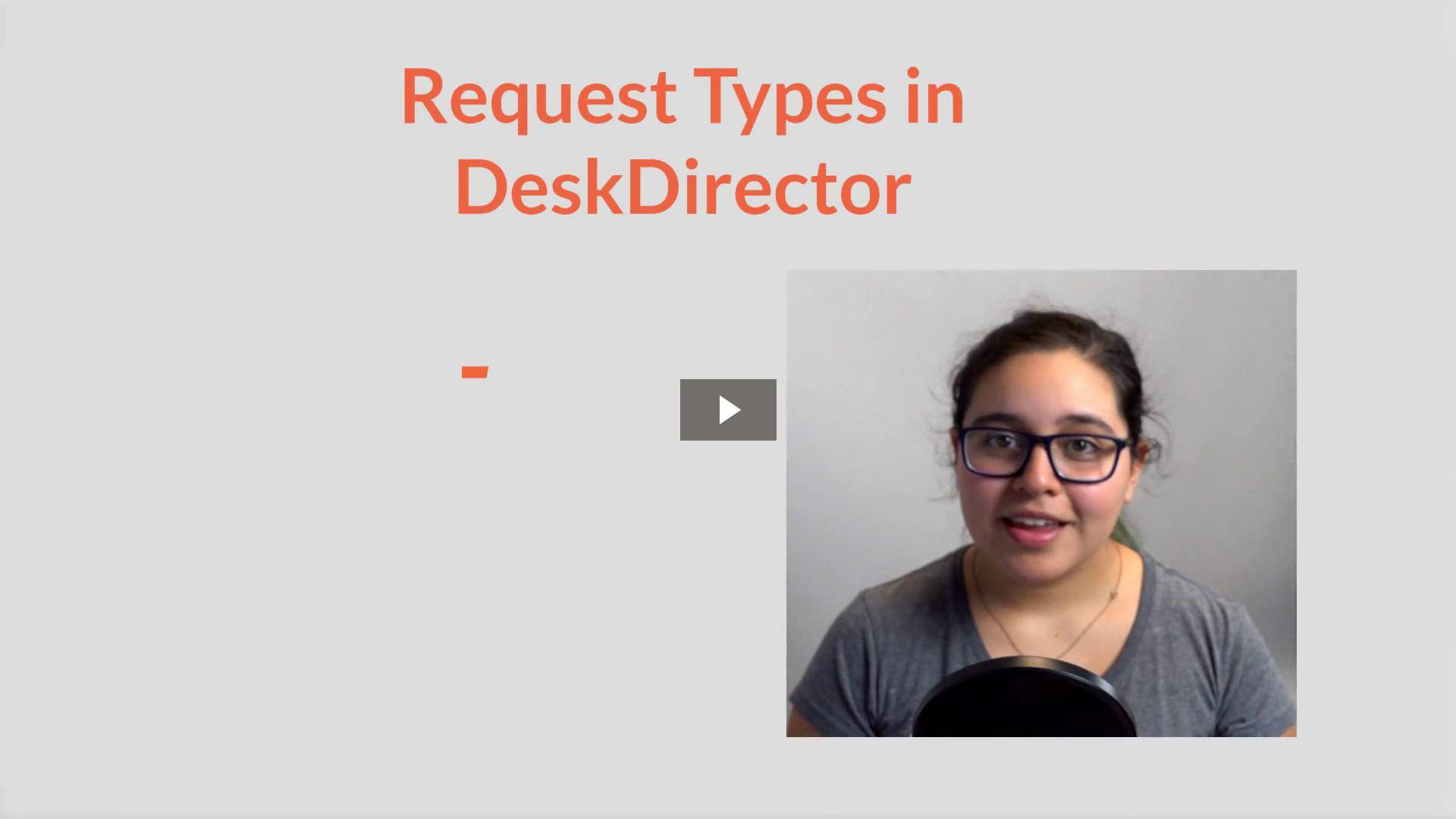 DeskDirector Consulting Part 1: Configurations