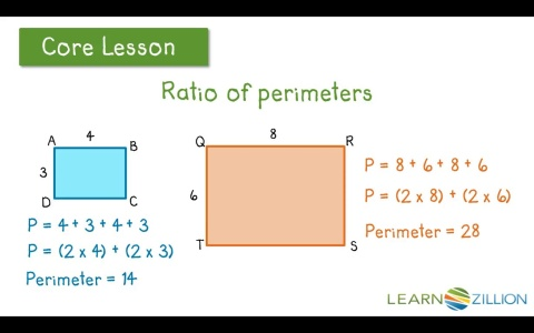 Lesson 22 scale drawings ready common core find a perimeter by using a scale factor and a proportion ccuart Images