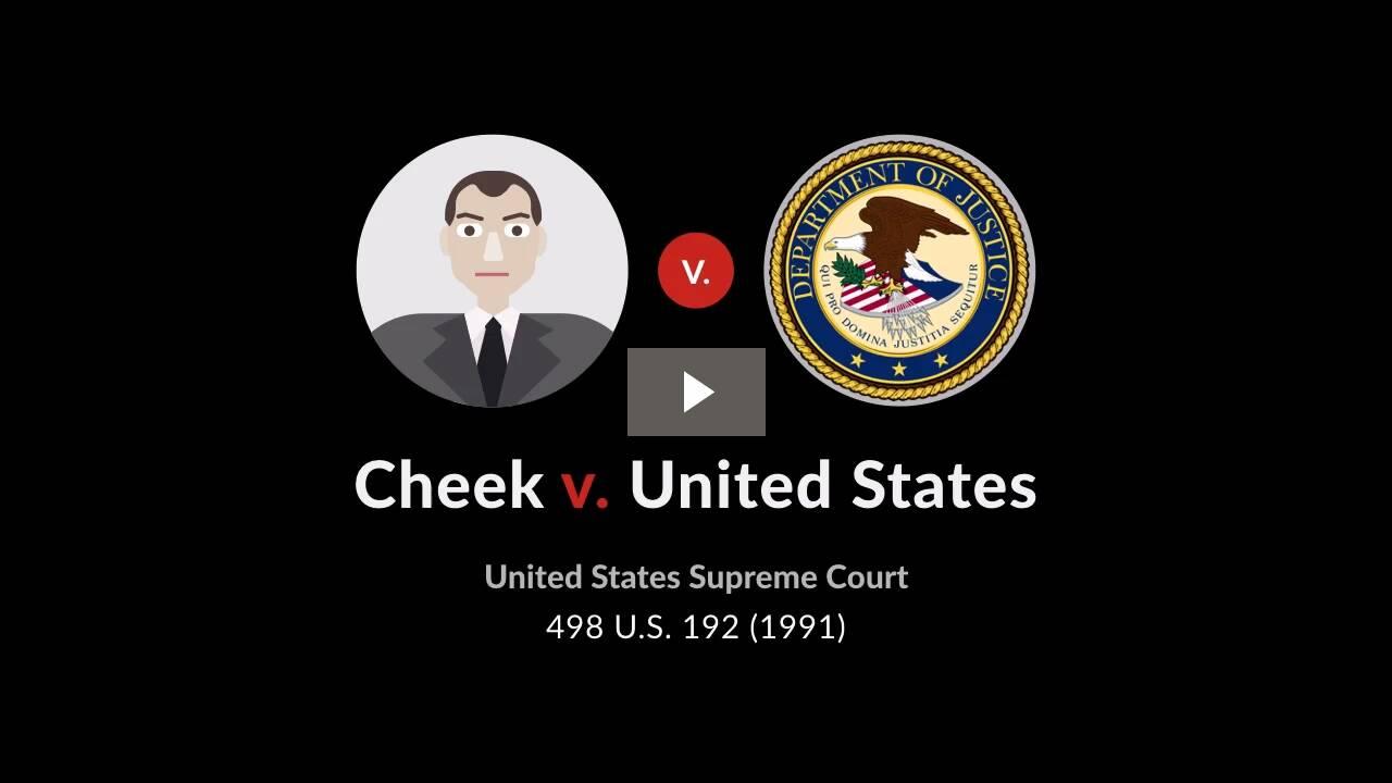 Cheek v. United States