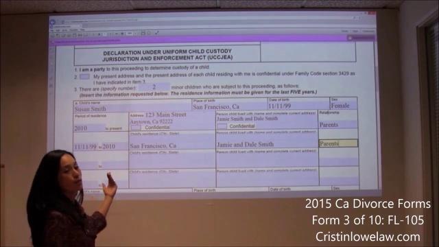 California Divorce Form Fl-105 - Cristin Lowe Law