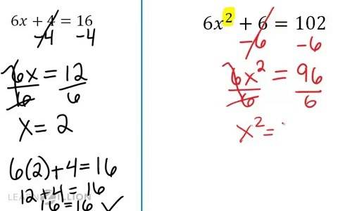 Solve a quadratic equation: taking a square root | LearnZillion