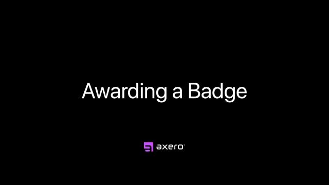 Awarding a Badge