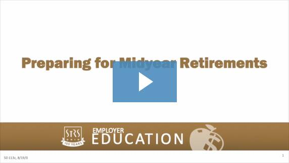 Thumbnail for the 'Preparing for Midyear Retirements' video.