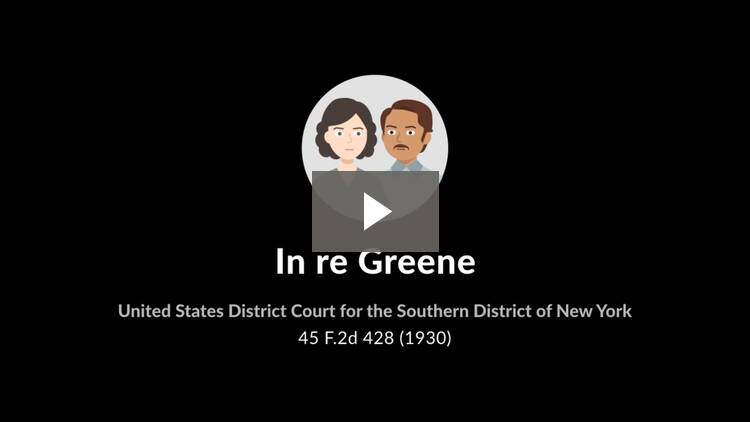 In re Greene