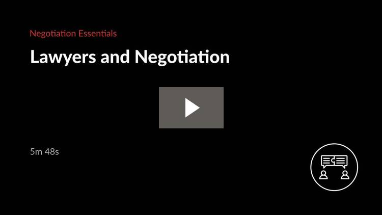 Lawyers and Negotiation