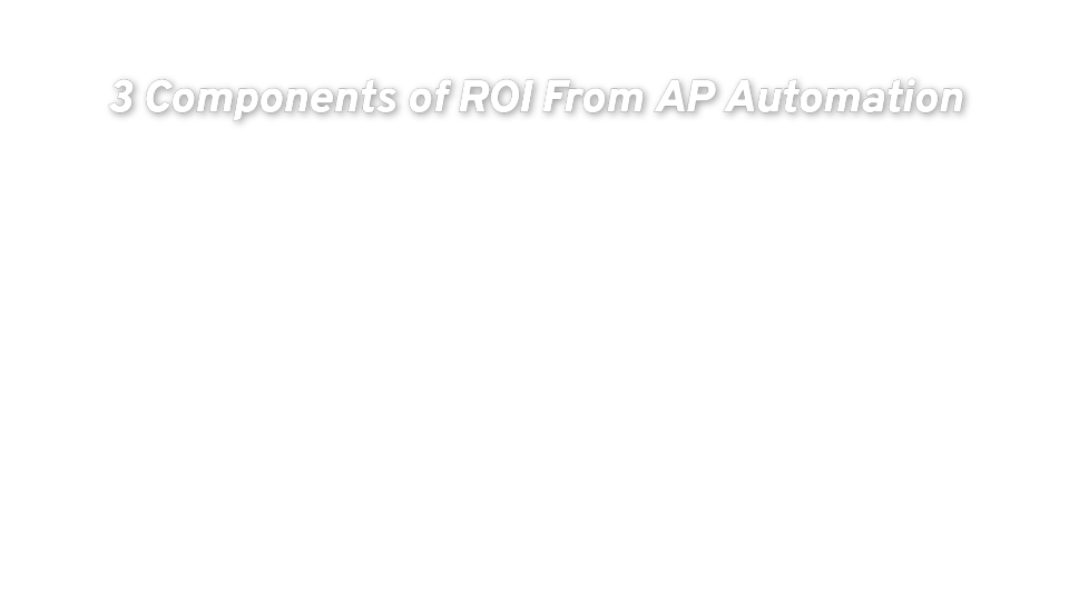 3 Components of ROI From AP Automation