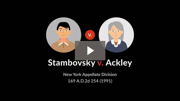 Stambovsky v. Ackley