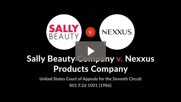Sally Beauty Co. v. Nexxus Products Co.