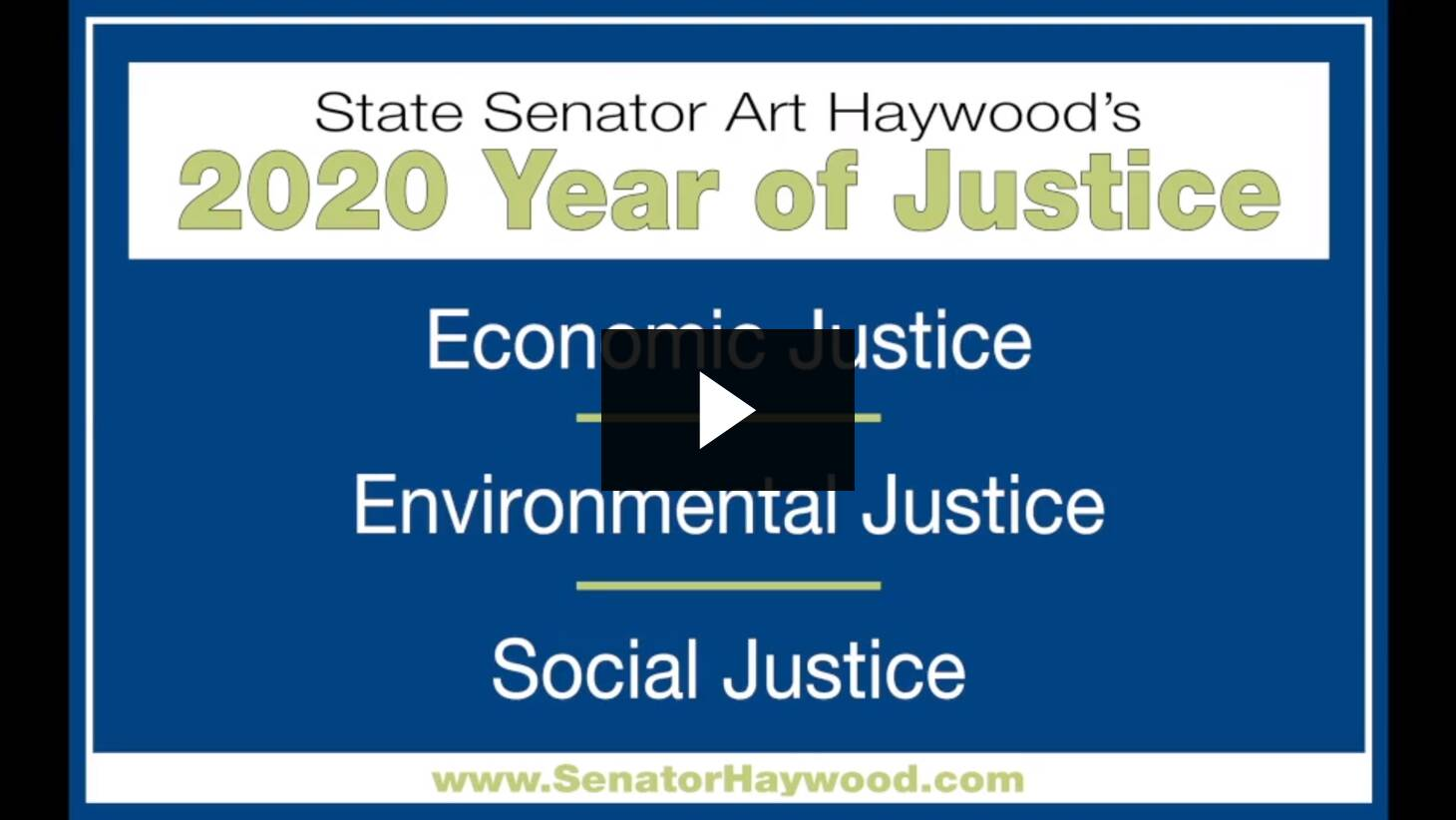 Senator Haywood Announces the 2020 Year of Justice :: January 9, 2020