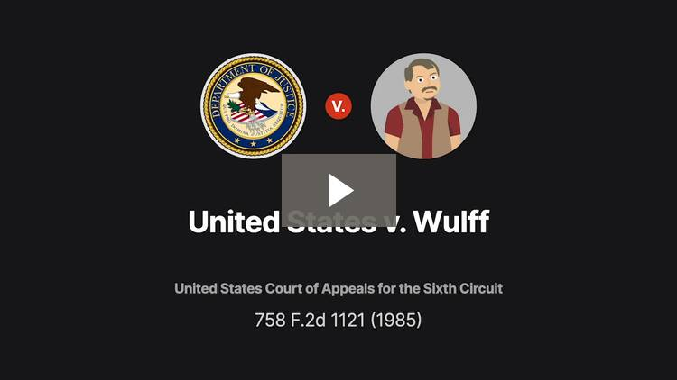United States v. Wulff