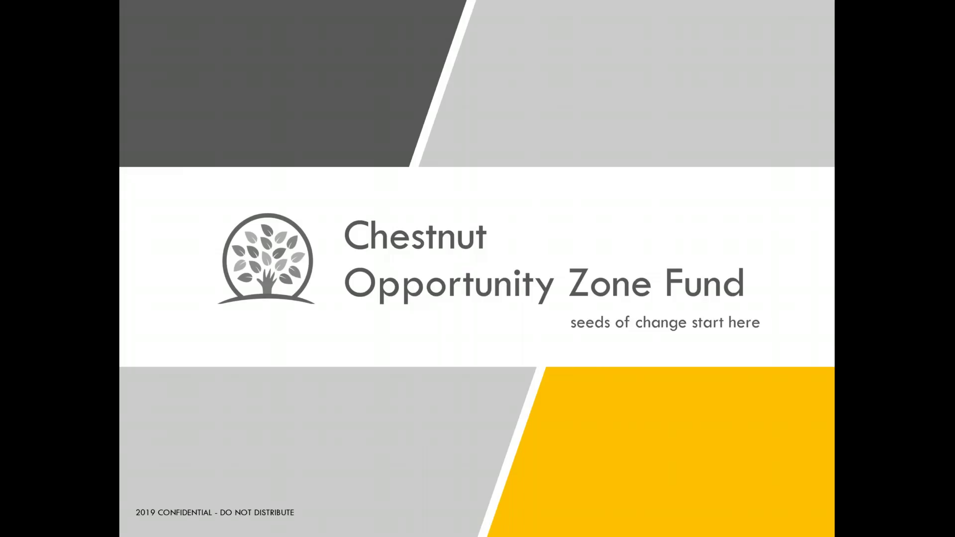 Investment Video - Chestnut Opportunity Zone Fund