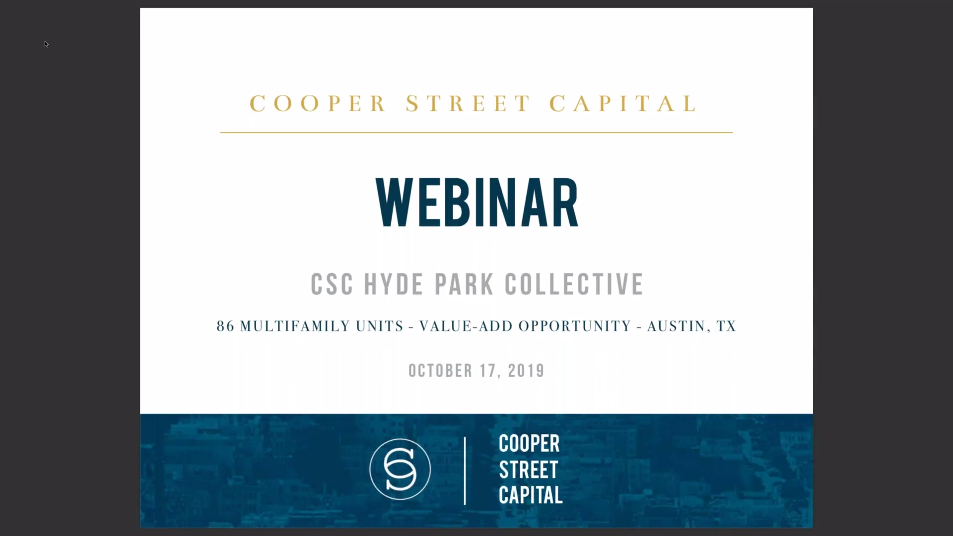 Investment Video - Hyde Park Collective