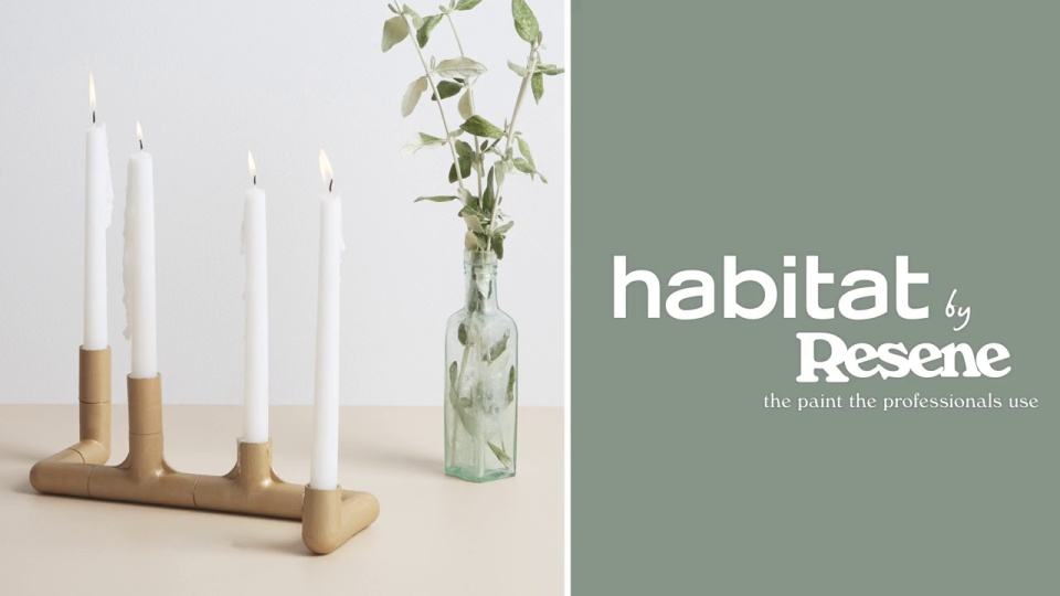 Habitat TV Video: Create your own industrial-style candleholder