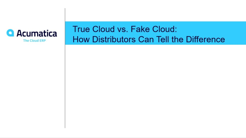 True Cloud vs. Fake Cloud: How Distributors Can Tell the Difference