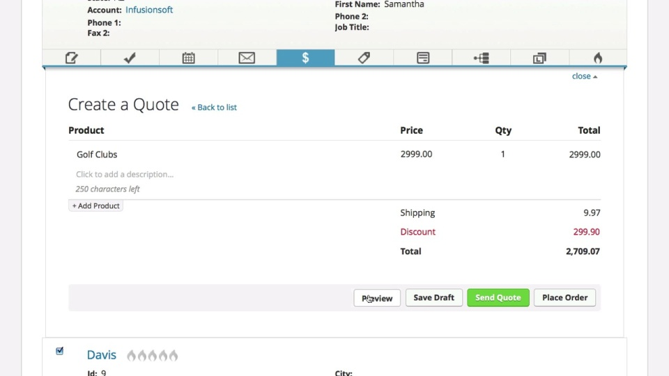 Create A Quote Infusionsoft Pro Extraordinary How To Make A Quote