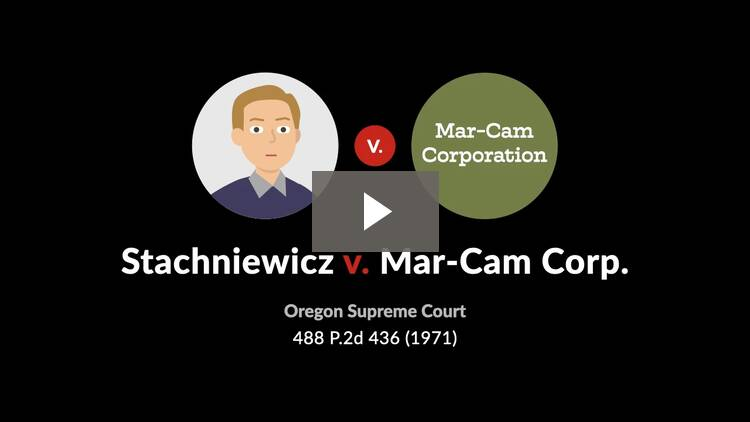 Stachniewicz v. Mar-Cam Corp.