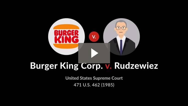 Burger King Corp. v. Rudzewicz