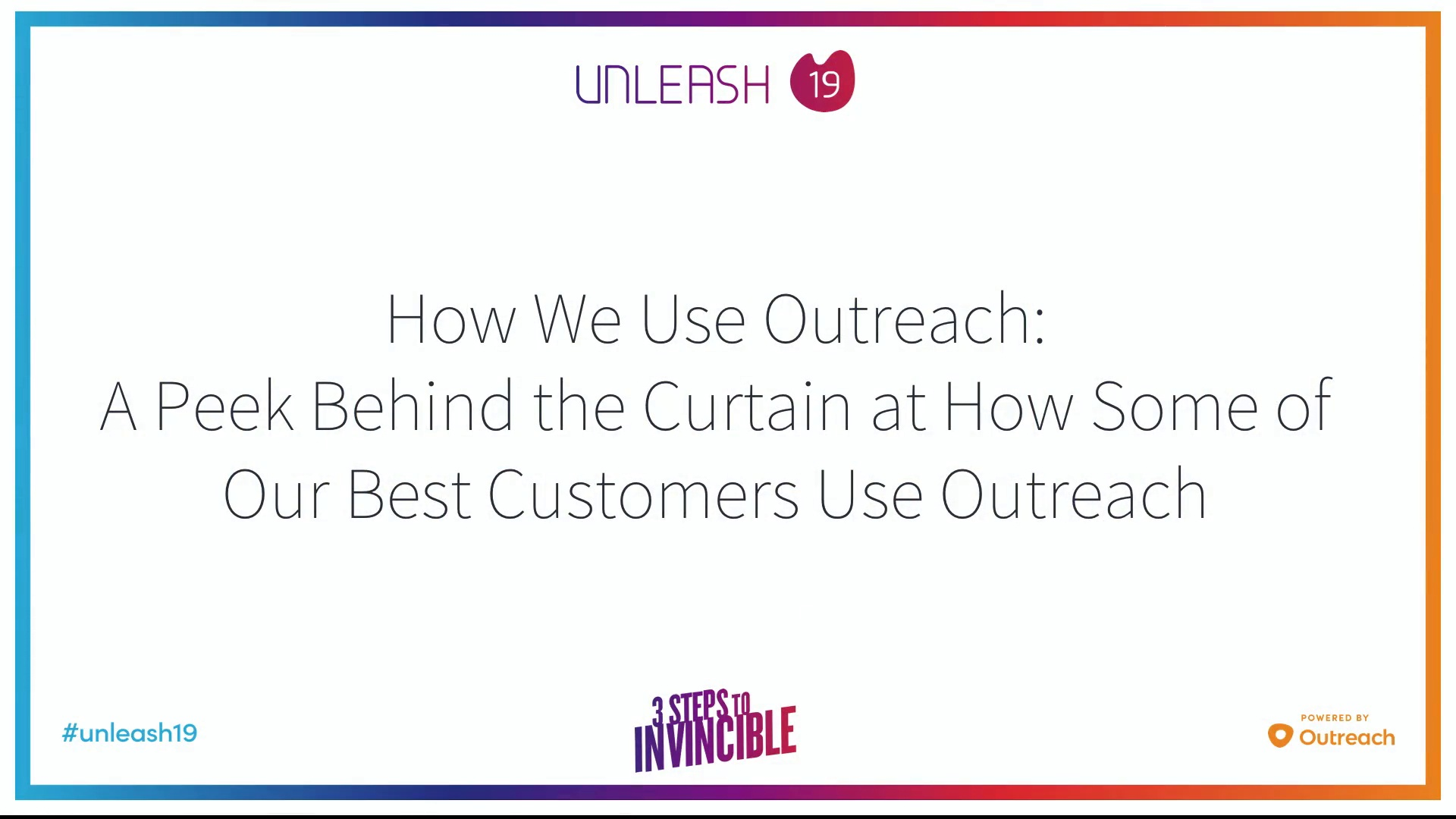 How We Use Outreach - Mark Kosoglow, Beth Peterson, Adam Towns, Carl Price