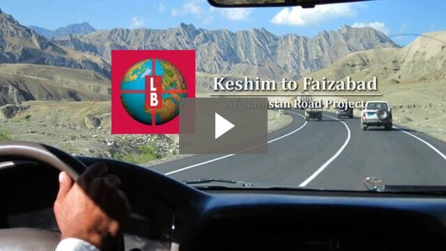 View of Keshim-Faizabad Road through windshield